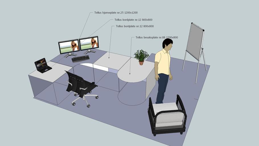 Furniture Plan For Software Developer Office At Nsd 3d Warehouse