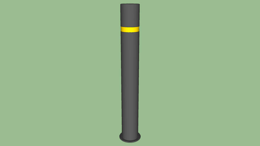 R-8460-RA Powder Coated Bollard