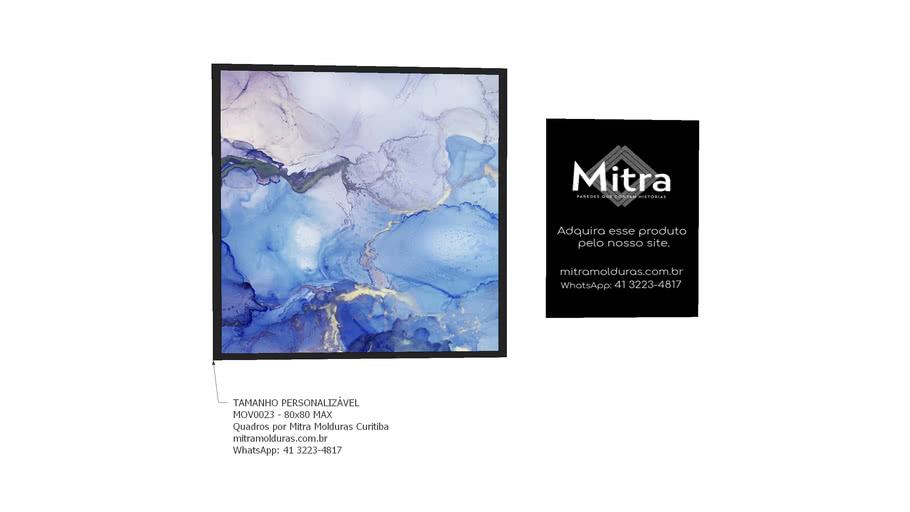 MOV0023 - 80x80 l Quadro Abstrato l Mitra Quadros Personalizados
