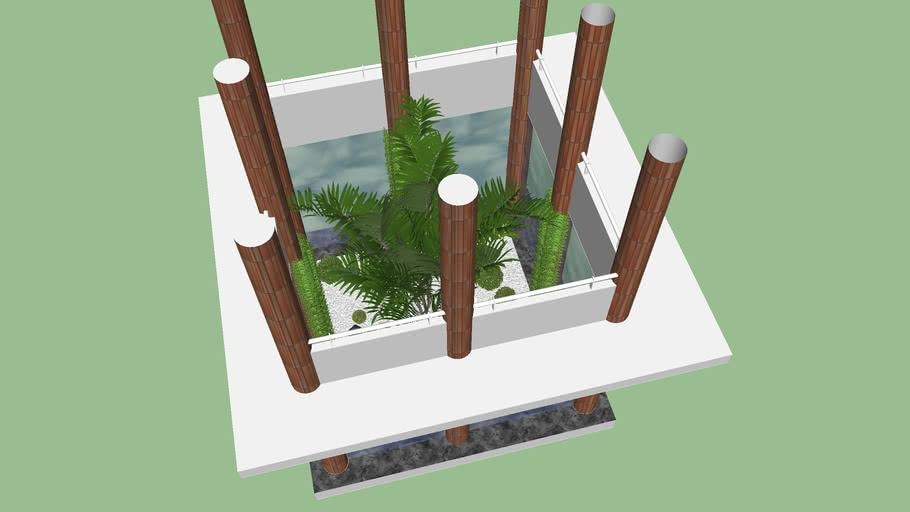 jardin central, areca, Aspidistra, fougère, cycas