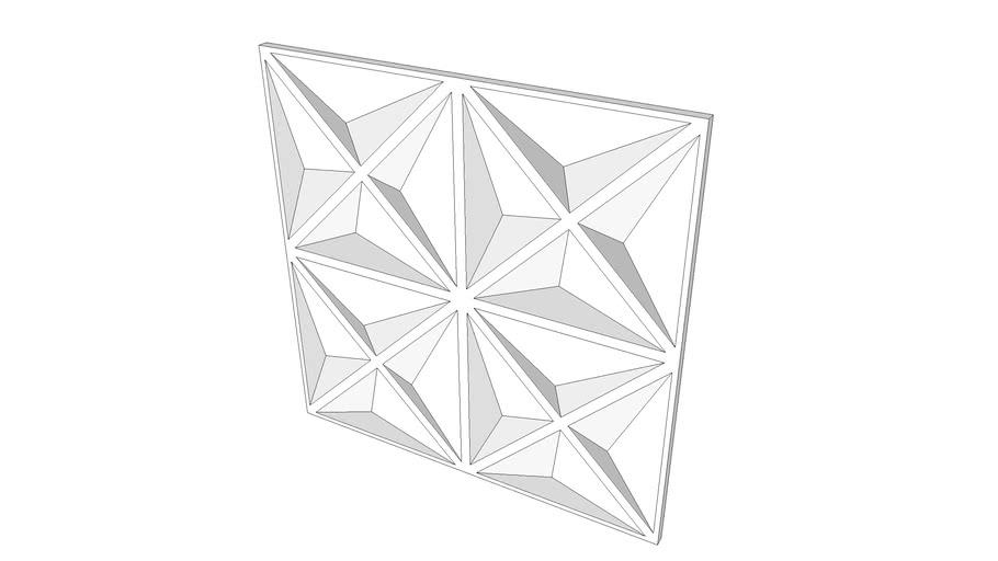 Placa decorativa de gesso