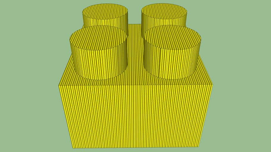 brique lego dorée