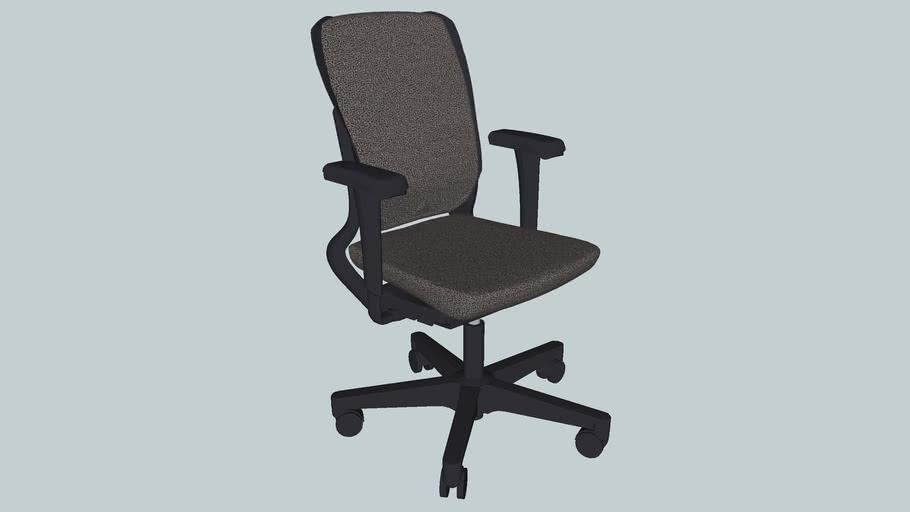 Ahrend 230 Desk chair, extra high back, plastc starfeet