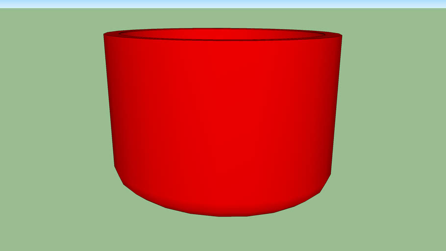 """Red Pot 24"""" x 14.5"""""""