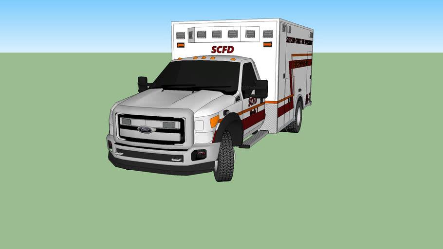 SketchUp County FD Medic 7
