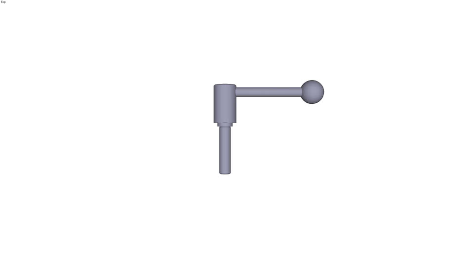 Indexing tension lever external thread...0° - size 1 M12  threaded rod length 50 mm
