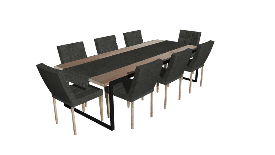 Dining Room Table and Chairs | 3D Warehouse
