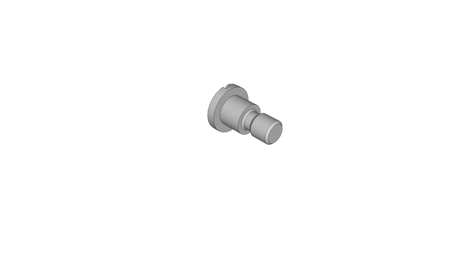 04441157 Slotted pan head screws with shoulder DIN 923 M10x10