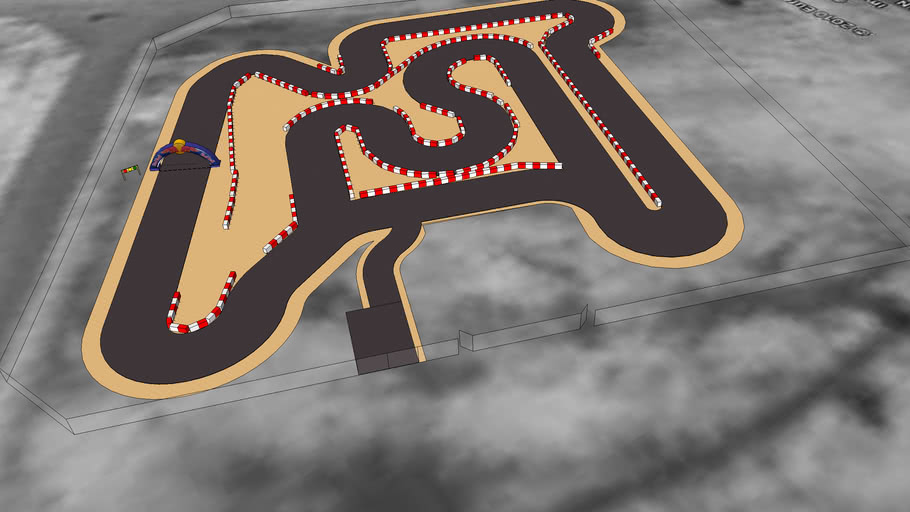 Cayman Karting Track Layout 2