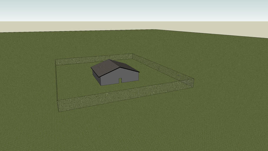 Bunker with house