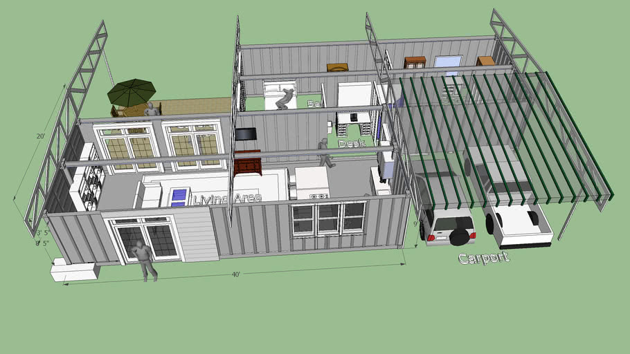 Hi Cube Shipping Container Home 3d Warehouse