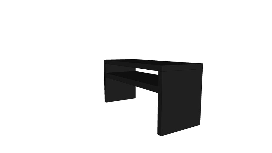Lack Sofa Table Black Brown Warehouse