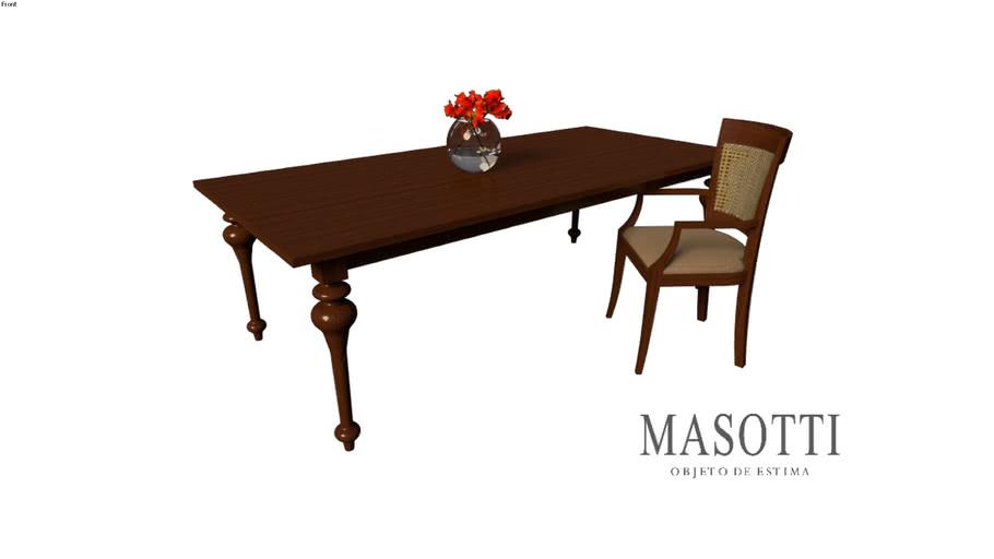 Mesa de Jantar Coleção Masotti Ref. MAS.70.4 240x110 F15