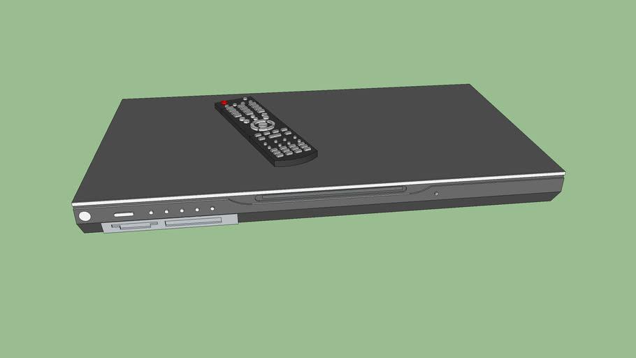 DVD com controle remoto