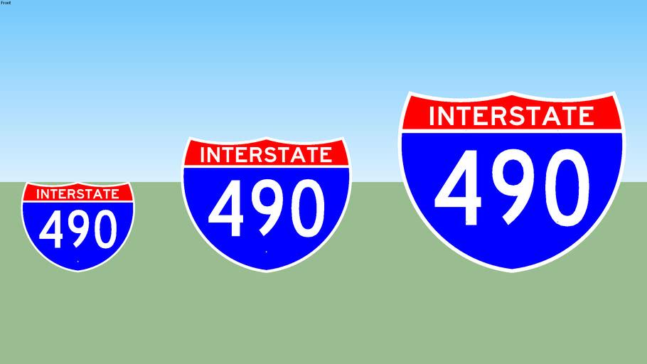 Interstate 490 Sign