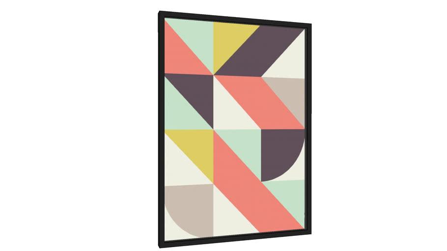 Quadro Geométrico e colorido I - Galeria9, por Vitor Costa