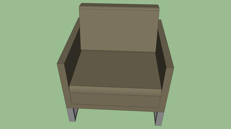 Mono Sofa 1 Seater (Deep Seating) Metal Legs