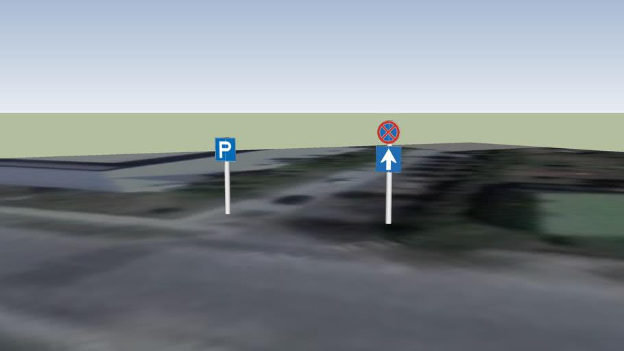 Közlekedési táblák Gödöllőn - Illés köz