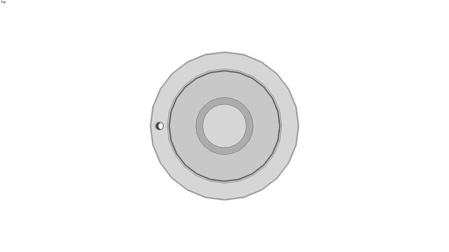 Aluminum Disk Handwheel with Clutch Mechanism