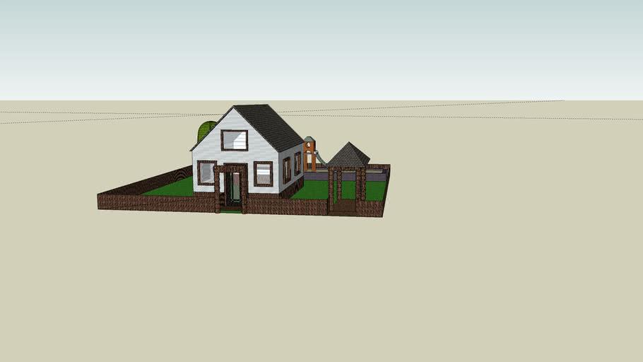 Haus mit Kinderspielplatz und Garage