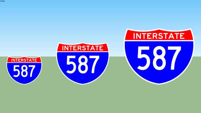 Interstate 587 Sign