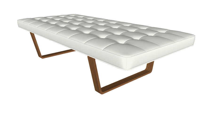 Charlton Bench in Soft Snow Leather by Modloft