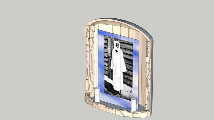 cascade avec le photo de serigne touba crave sur du verre