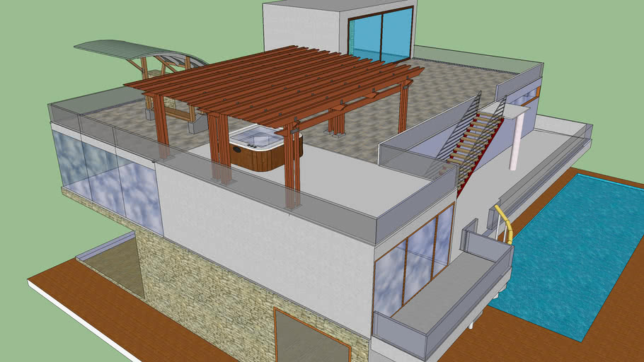 Modern house (with small pool)