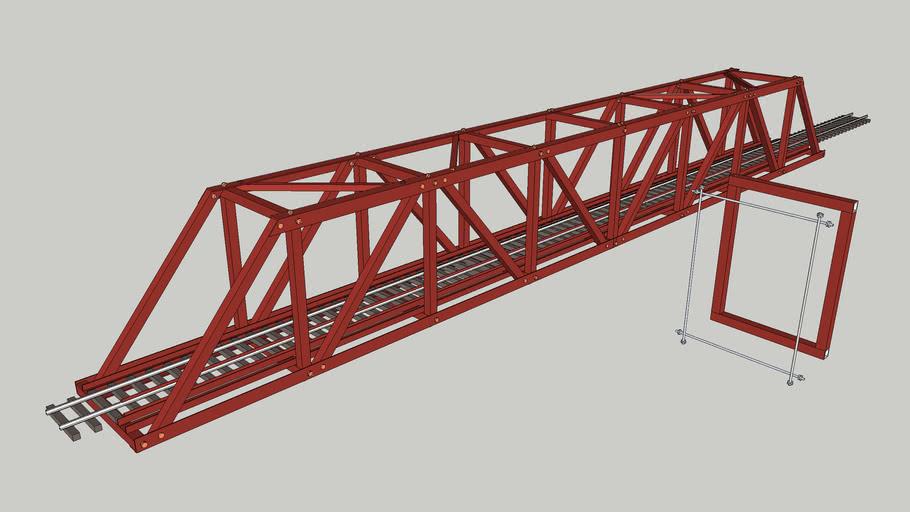 G gauge aluminum bolted bridge for garden trains
