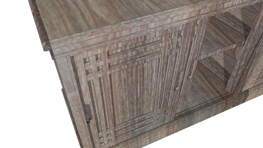 teak TV cabinet