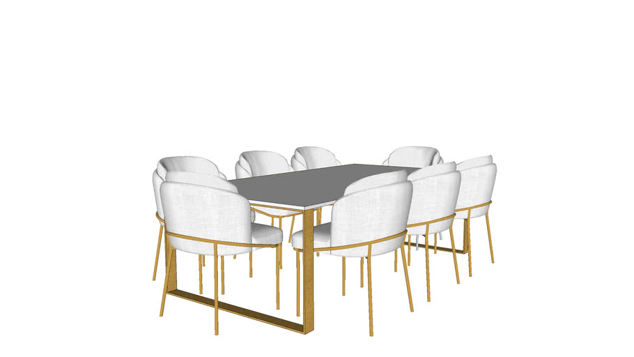 Table with eight chair