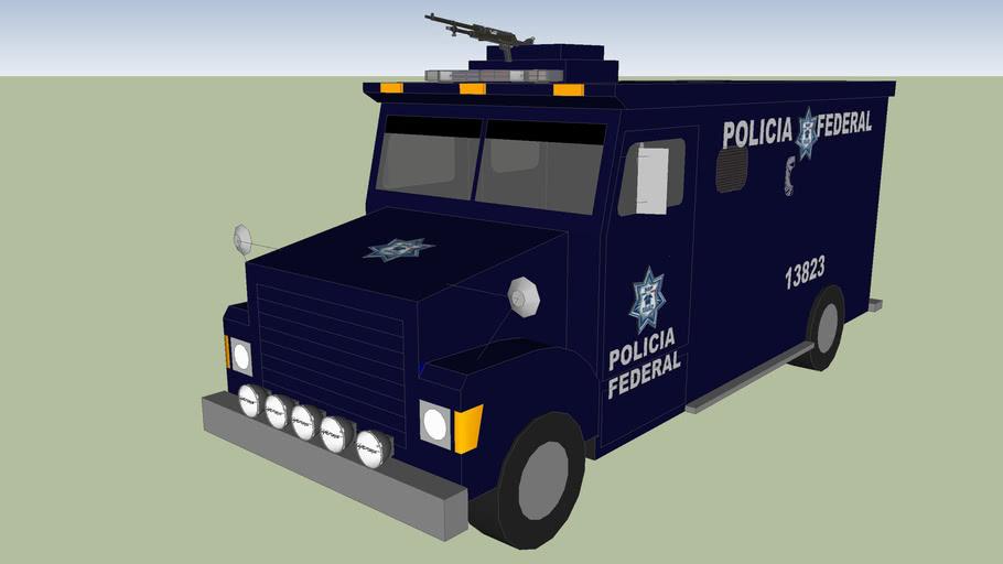 rinoceronte camion blindado de la policia federal preventiva ssp pfp