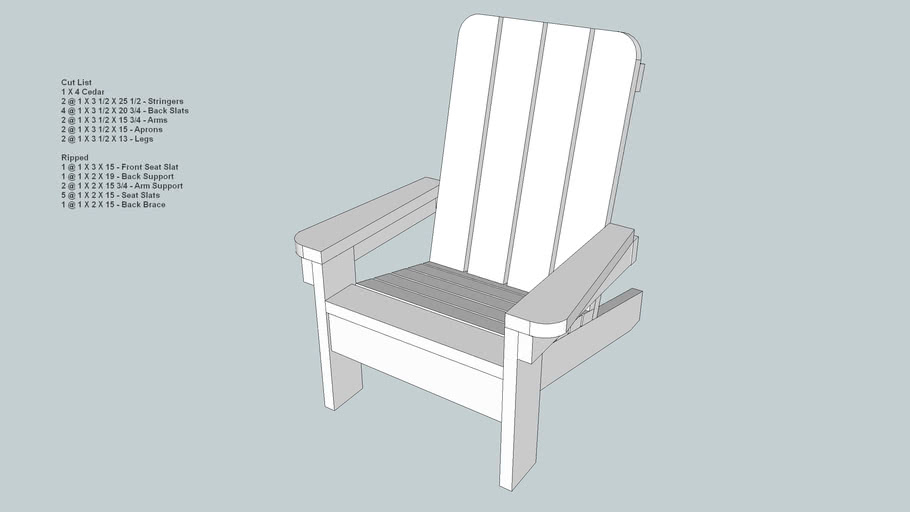 Small Childs Adirondack Style Chair