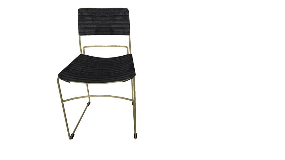 84180 Chair Hugo Black Gold