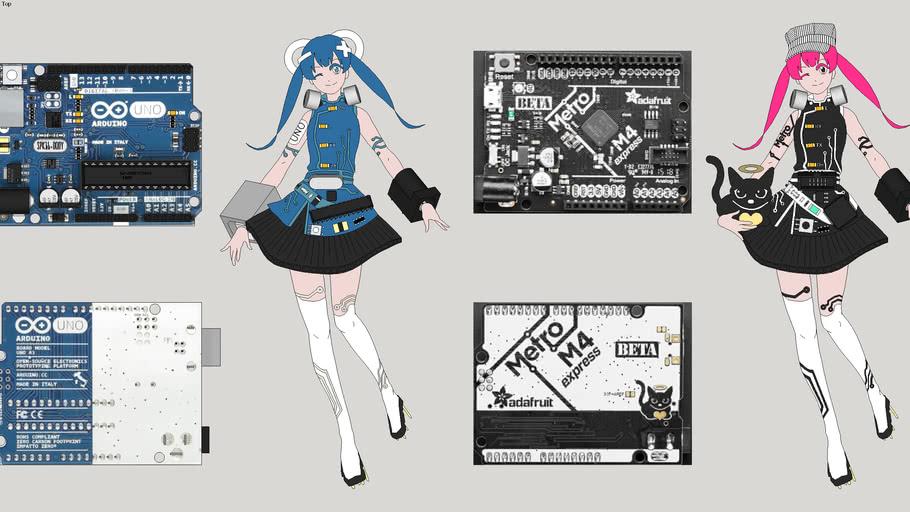 Arduino-chan and Metro-chan