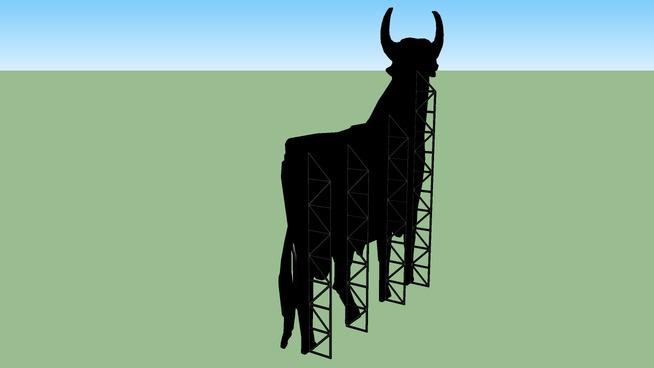 Toro de Osborne en Peñalba - Huesca