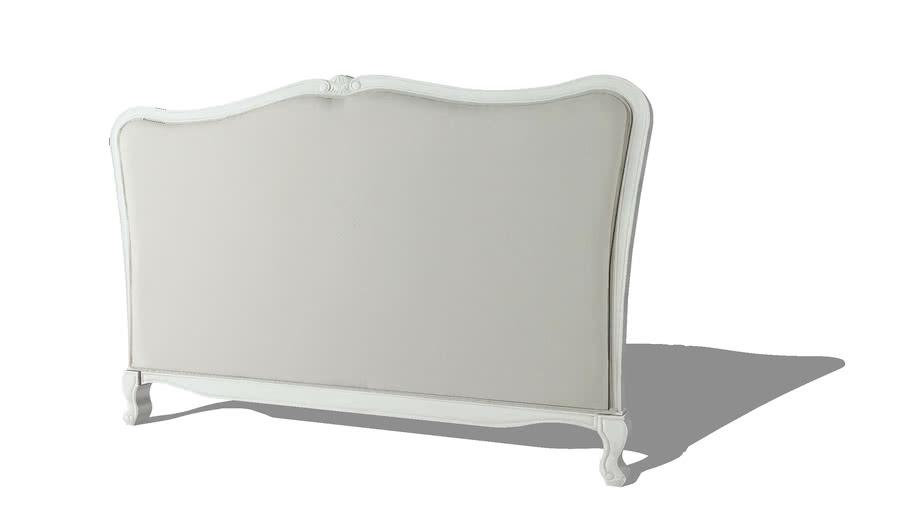 JOSÉPHINE Tête de lit 180 en coton beige et pin blanc REF 166438 PRIX 360.00€