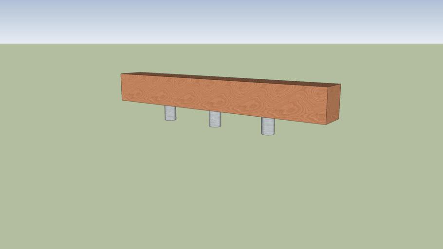 Floating beam bench