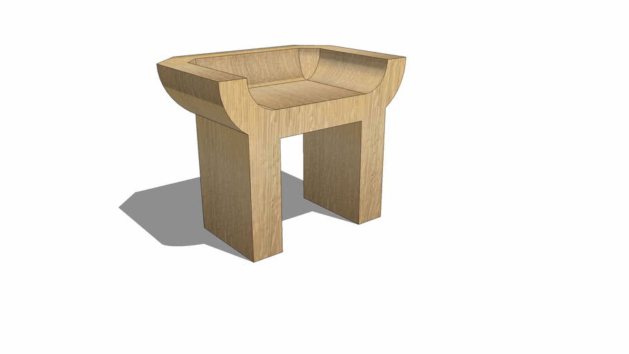 'Curial' chair by Rick Owens