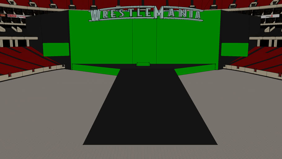 wwe WreslteMania stage
