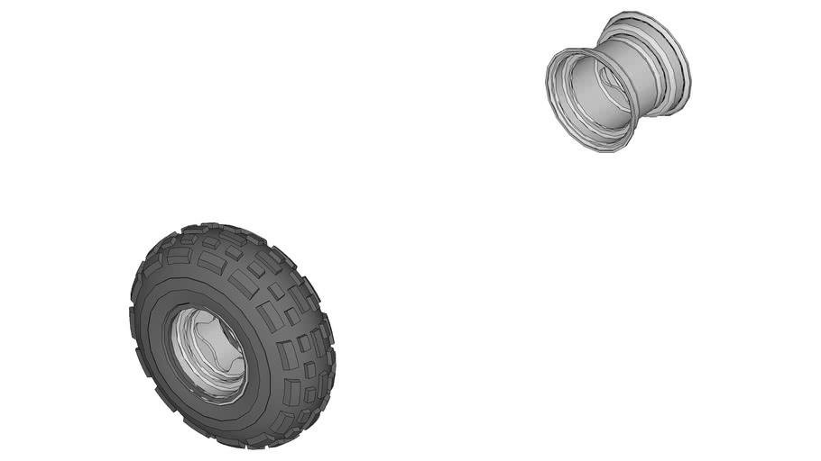 Parts MiniBaja Rodas+pneus dianteiros