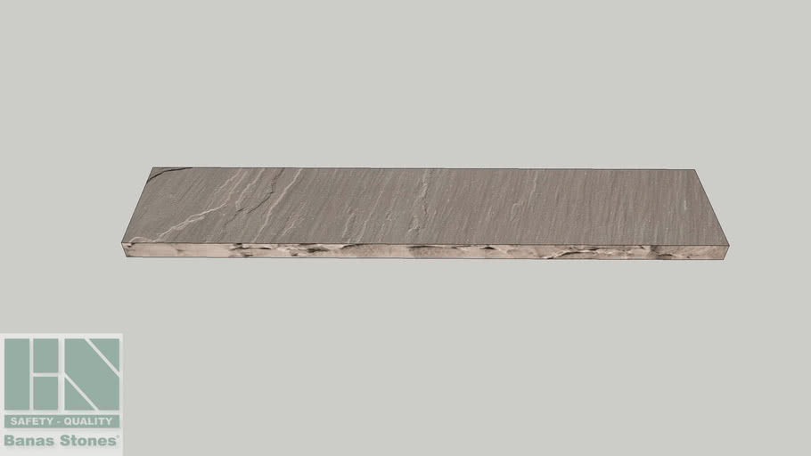 "Banas® Stones Premium Natural Wall Coping - 12"" x 60"" - Banas® Slate Grey RF4"