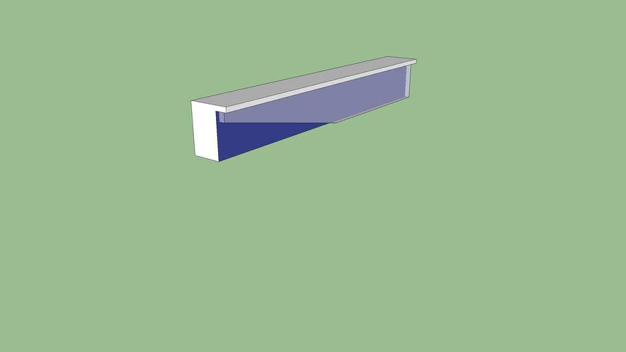 asymmetrical bench blue