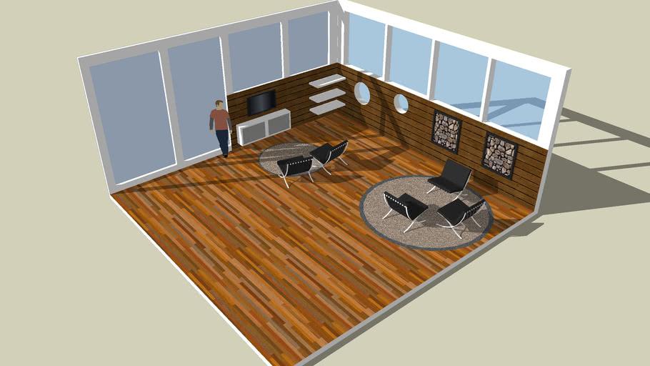 Modern Livingroom with big windows