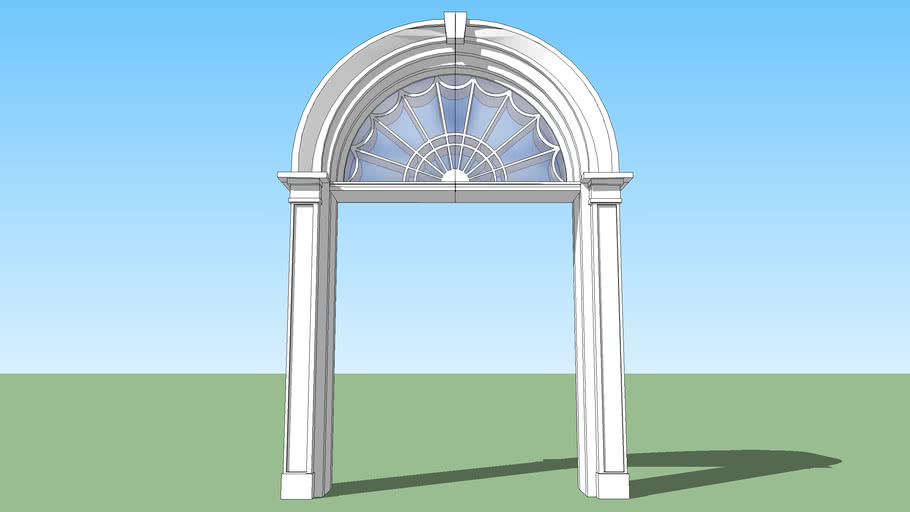 Archway with Glass Window