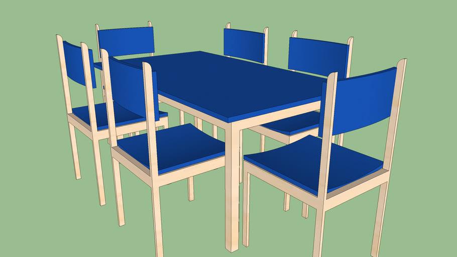 Juego de mesa y sillas Blue domain