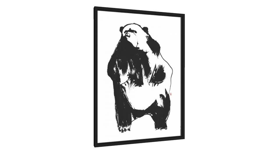 Quadro Black Ink Urso 2 - Galeria9, por Danilo Gonçalves