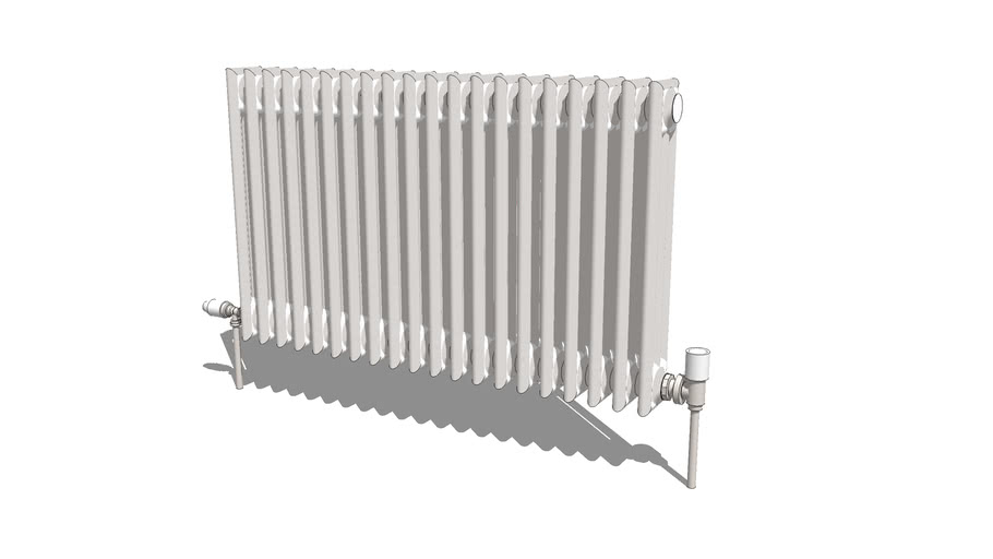 Radiator, traditional style 100cm (total width with fittings 121cm)