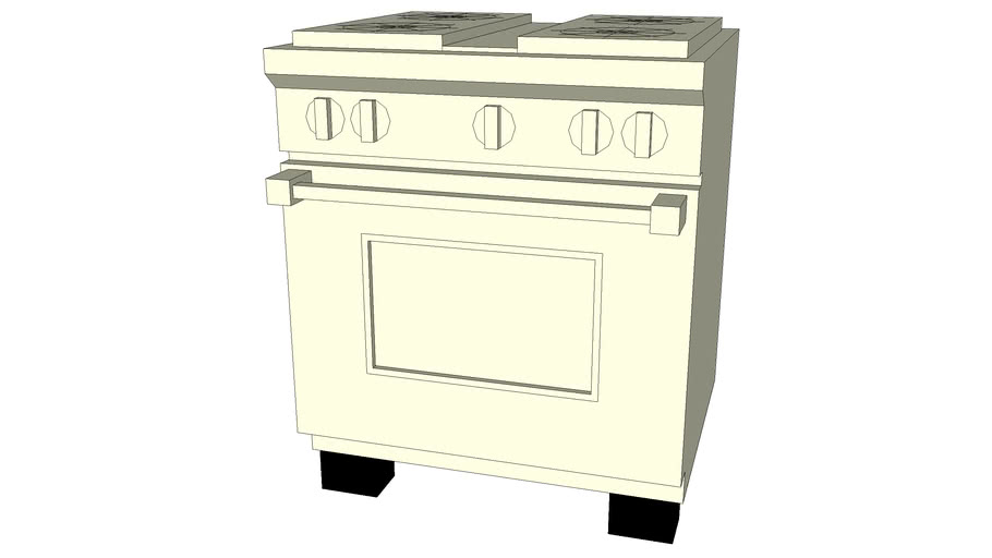 Kitchen range and double oven at 30-in