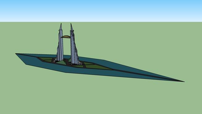 island skyscraper
